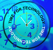 Time For Technology Means Digital Data And Facts Royalty Free Stock Image
