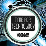 Time For Technology Message Showing Innovation Royalty Free Stock Photography