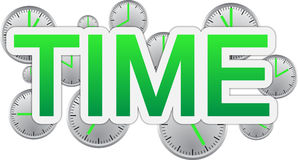 Time text banner Stock Images