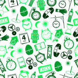 Time theme modern simple icons seamless color pattern eps10 Stock Photography