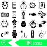 Time theme modern simple icons set eps10 Stock Photo