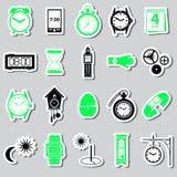 Time theme modern simple stickers set eps10 Stock Photo