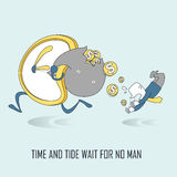Time and tide wait for no man concept Stock Photography