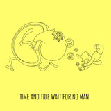 Time and tide wait for no man concept Royalty Free Stock Photography