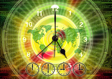 Time and timing (world time) Royalty Free Stock Image