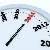 Time to 2011. 3d render. including clipping path stock illustration