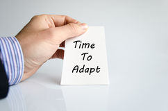 Time to adapt text concept. Isolated over white background Royalty Free Stock Image