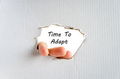 Time to adapt text concept. Isolated over white background Stock Images