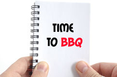 Time to bbq text concept Stock Photos