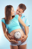 Time to birth stock image