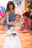 Time to blow out candles royalty free stock photo