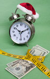 Time to Budget for the Holidays. Running out of time to budget money for holiday gifts Stock Photo