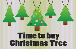 Time to buy christmas tree Royalty Free Stock Photos