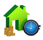 Time to buy a home. Illustration design over white Stock Images
