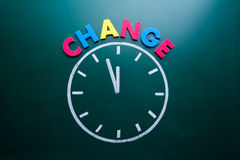 Time to change concept Stock Image