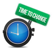 Time to change concept illustration design Stock Photos