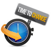 Time to change concept illustration design Stock Photo