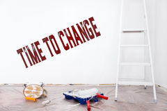 Time to change, Improvement and alteration at home, english text Royalty Free Stock Photo
