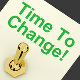 Time To Change Switch Meaning Reform And Improve Royalty Free Stock Photo