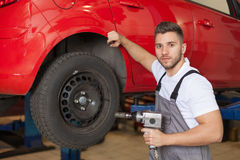 Time to change the tires Stock Photos