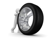 Time to change your tyres Royalty Free Stock Images