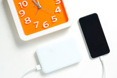 Time to charge smart phone Royalty Free Stock Images