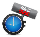 Time to Choose watch Royalty Free Stock Photos