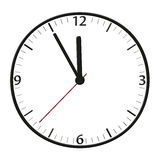 Time - 5 to 12. A classic station clock to use for presentations Stock Photos