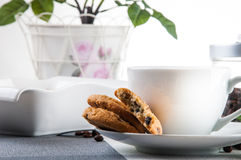Time to coffee break!. Lovely home concept, coffee break Royalty Free Stock Image