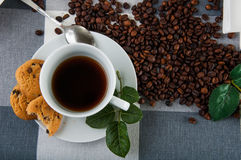 Time to coffee break!. Lovely home concept, coffee break Royalty Free Stock Photos