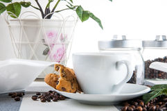Time to coffee break!. Lovely home concept, coffee break Royalty Free Stock Photography