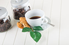 Time to coffee break!. Lovely home concept, coffee break Stock Images