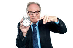 Is this the time to come to the office? Royalty Free Stock Photo