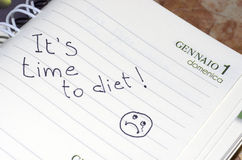 It is time to diet Stock Photography