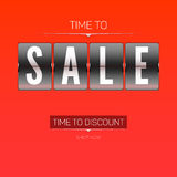 Time to discounts. Royalty Free Stock Images