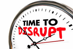 Time to Disrupt Clock Upset Status Quo Royalty Free Stock Images