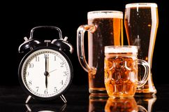 Time to drink beer Stock Images