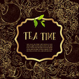 Time to drink tea. Trendy poster Stock Image