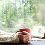 Time to drink a warm drink Royalty Free Stock Photos