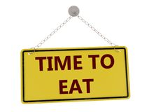 Time to eat sign stock illustration