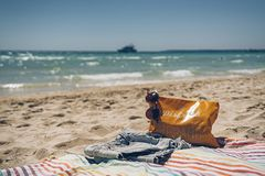 Time to enjoy the summer: vacation, holidays, relax and enjoy concept.  stock image