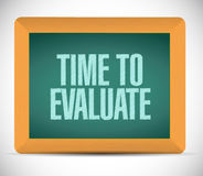Time to evaluate message illustration design Royalty Free Stock Photography