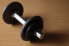Time to exercise with a dumbbell Stock Image