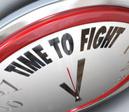 Time to Fight Clock Resistance Fighting for Rights. A clock with the words Time to Fight illustrating the urgency of standing up for your rights and Stock Images