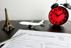 Time to fill this Blank Visa application form Royalty Free Stock Photography