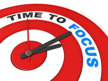 Time To Focus concept Stock Photography