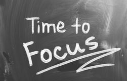 Time To Focus Concept Royalty Free Stock Image