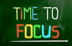 Time To Focus Concept Royalty Free Stock Photography