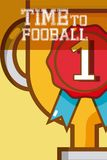 Time to football. Trophy cup vector illustration graphic design Stock Photos