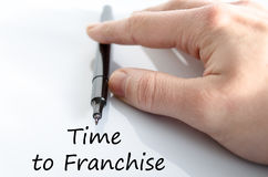Time to franchise text concept Royalty Free Stock Images